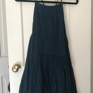 Free People Dark Teal Swing Dress